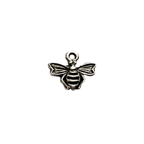 old silver pewter, bee charms, 01017, vintage pewter castings, antique silver, pewter, B'sue by 1920, vintage jewelry supplies, pewter charms, lead free charms, nickel free charms, insect charms, charm bracelets