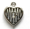 vintage pewter castings, B'sue by 1928, old silver, nickel free, lead free pewter, vintage castings, antique silver, us made,  designer jewelry, vintage jewelry making supplies, heart, keyhole, 1928 Jewelry, pewter jewelry parts, B'sue Boutiques, 01023