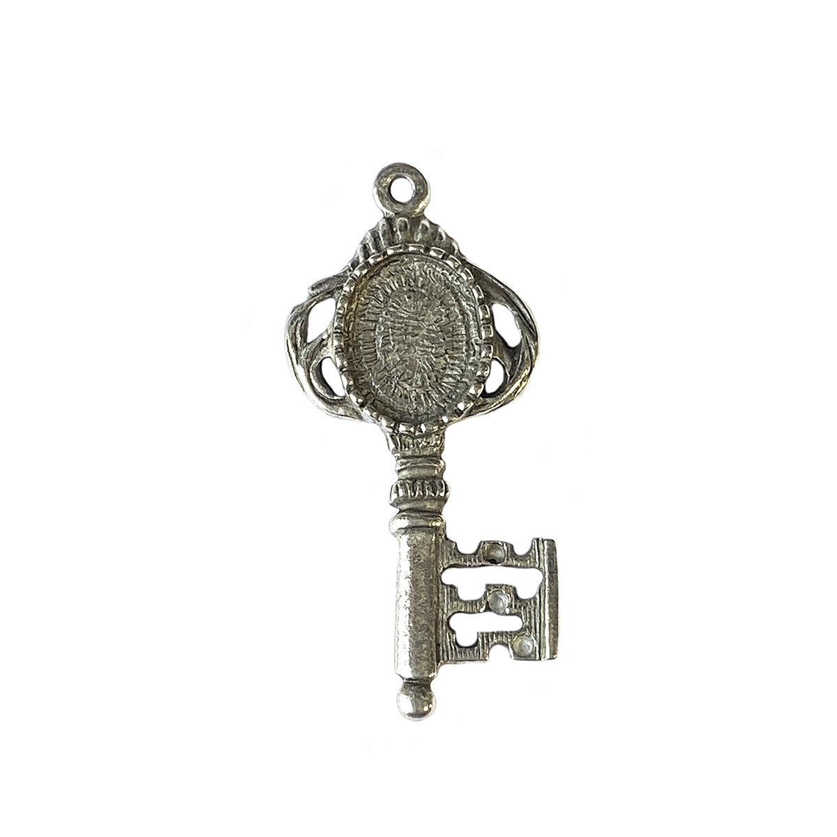 Old silver pewter key lead free pewter 01025 key pendant lead larger photo email a friend mozeypictures Image collections