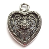 old silver pewter, nickel free, filigree hearts, 01030, lead free, pewter castings, cast pewter jewelry parts, vintage, 1928 Jewelry, B'sue Boutiques, B'sue by 1928, vintage charms, vintage jewelry findings, pewter, pewter jewelry findings,made in the USA