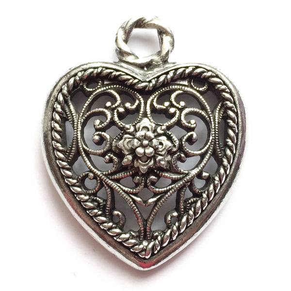 Old silver pewter nickel free filigree hearts 01030 lead free larger photo email a friend mozeypictures Choice Image
