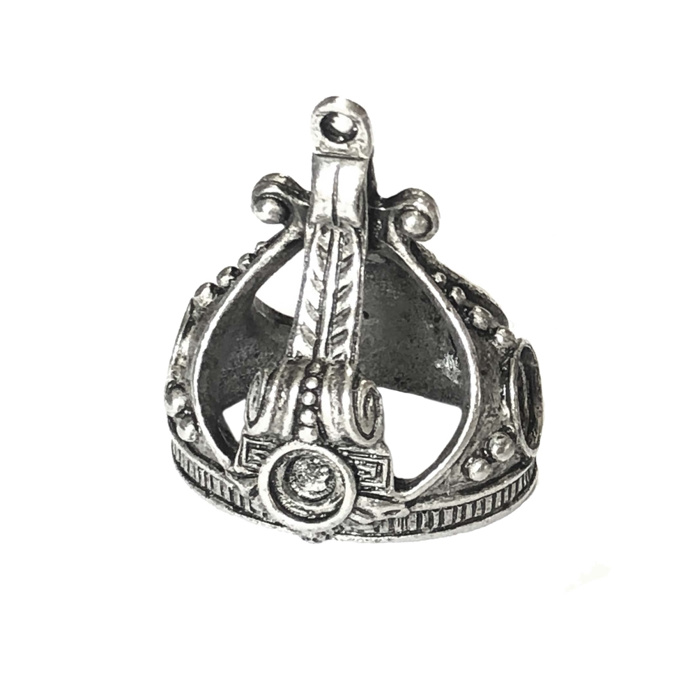pewter crown pendant, old silver, 0192, 1928 Jewelry Company, pewter castings, crown pendant, recess crown pendant, 25 x 18mm mount, jewelry making supplies, vintage jewelry supplies, US made, nickel free, Bsue Boutiques, antique silver