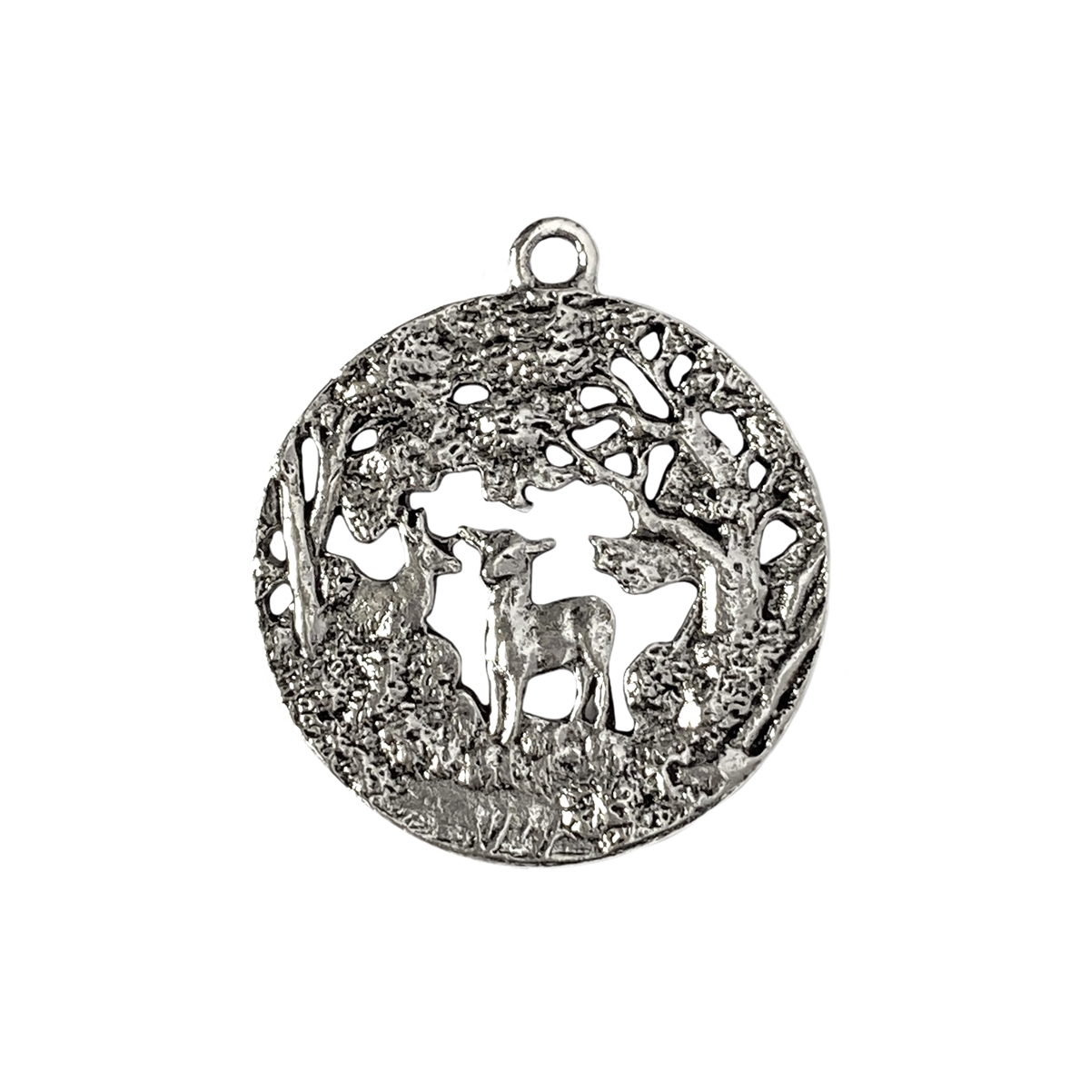 Lamb in the woods pendant old silver pewter pendants larger photo email a friend mozeypictures Gallery