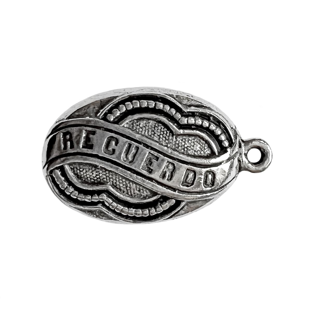 Old silver recuerdo pendant memory pendant antique silver old silver pewter recuerdo memory pendant aloadofball Gallery