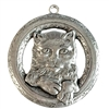 buster kitty pendant, old silver pewter, cat pendant, lead free pewter, cat charms, lead free, jewelry findings, vintage jewelry parts, nickel free, B'sue by 1928, vintage jewelry findings, pewter jewelry parts, us made, 1928 Jewelry, pewter, 03012