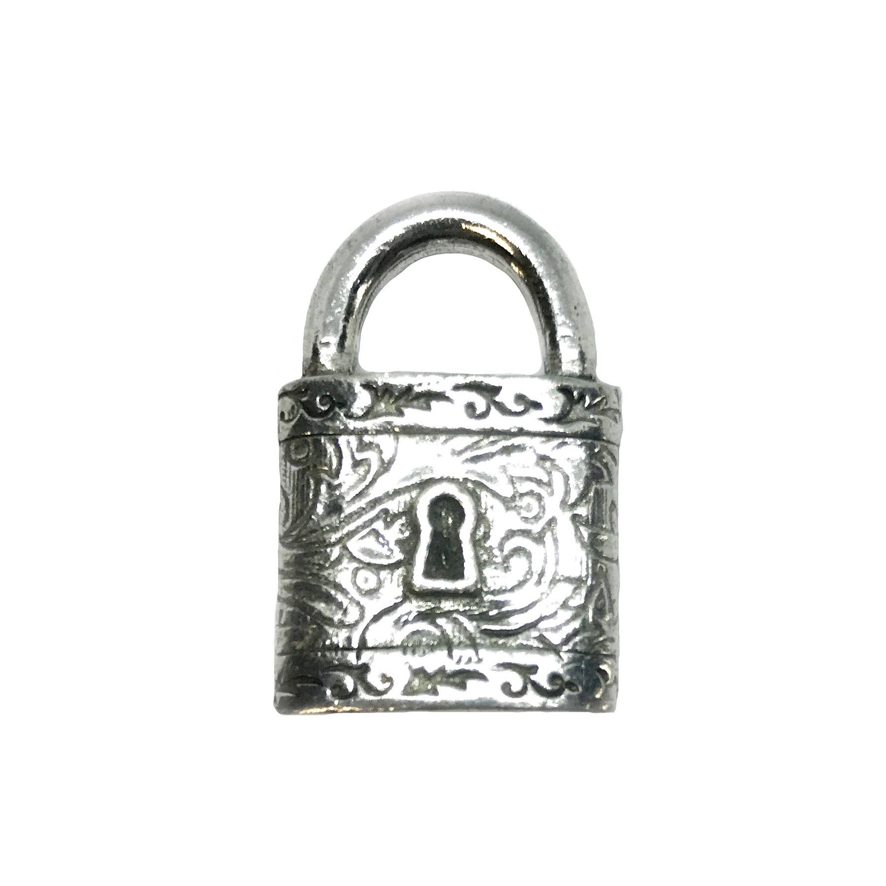 Victorian square style lock, pendant, victorian square lock stamping, lock, old silver pewter, old silver, 3d charm, vintage style, antique silver, us made, nickel free, B'sue Boutiques, B'sue by 1928,lead free pewter,vintage supplies,jewelry making,04889