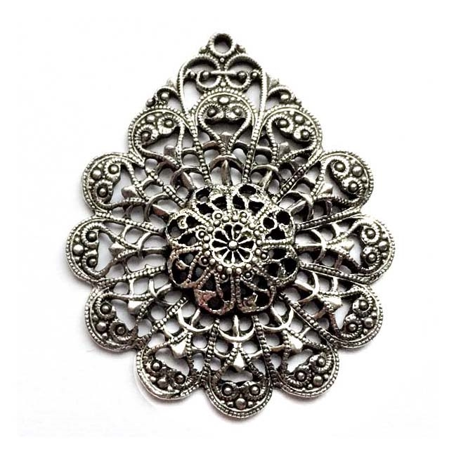 old silver, nickel free, filigree charms, lead free, pewter castings, cast pewter jewelry parts, vintage, 1928 Jewelry, B'sue Boutiques, B'sue by 1928, silver charms, vintage charms, vintage jewelry findings, pewter, pewter jewelry, 0493