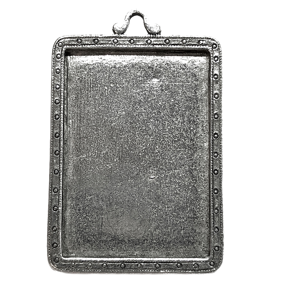 Picture Frame Pendant, Old Silver, 05675, lead free pewter, B'sue by 1928, silver plated pewter, framed mount, vintage jewelry supplies, pewter jewelry parts, nickel free finish, US made, 1928 Jewelry Company, designer jewelry, B'sue Boutiques