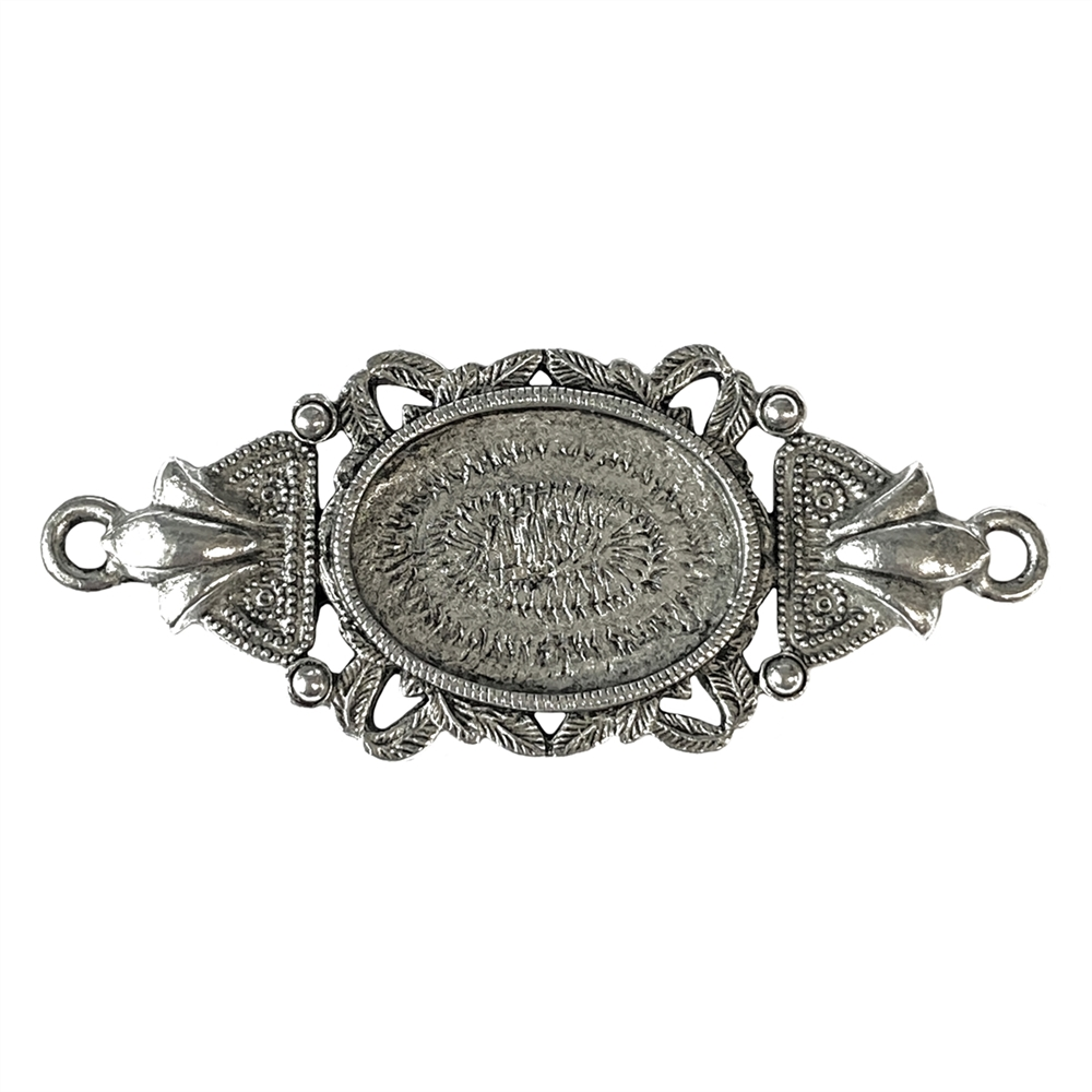 old silver, framed jewelry connector, 06008, lead free pewter, B'sue by 1928, silver plated pewter, antique, vintage jewelry parts, pewter jewelry parts, nickel free finish, made in the USA, 1928 Company, designer jewelry, B'sue Boutiques