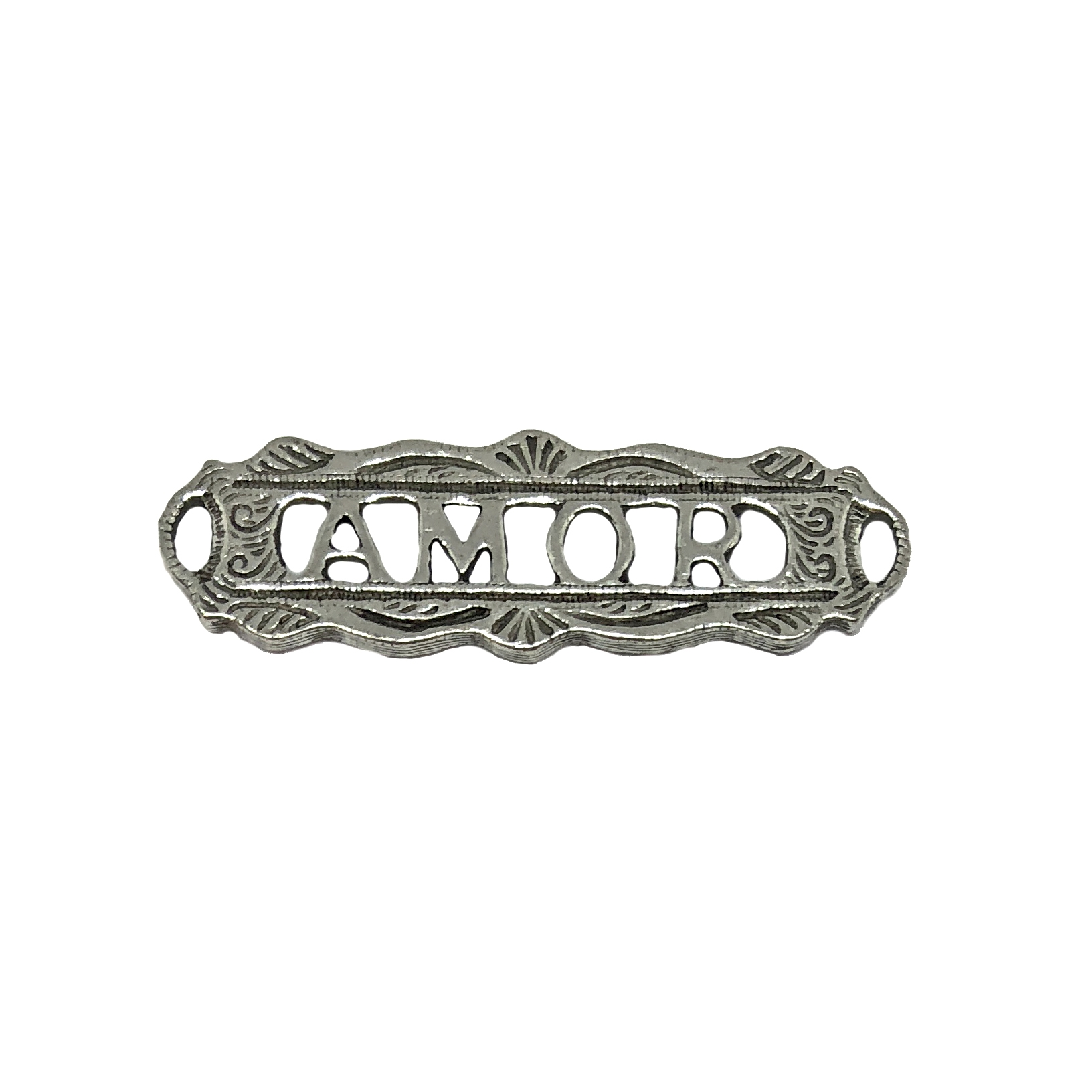 old silver, amor connector, bracelet bar, 06866, vintage, B'sue by 1928, lead free pewter castings, cast pewter jewelry findings, made in the USA, 1928 Company, B'sue Boutiques, plated pewter, jewelry supplies