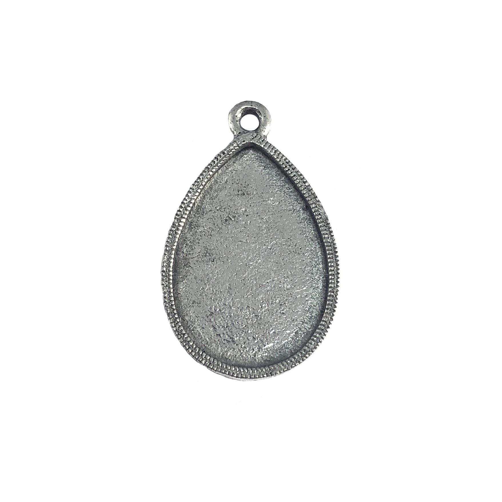 teardrop bezel, pendant, vintage pewter castings, B'sue by 1928, mount, bezel, teardrop, pendant, nickel free, lead free pewter, old silver, us made, designer jewelry, vintage jewelry supplies, 1928 Jewelry, B'sue Boutiques, drop, 07405