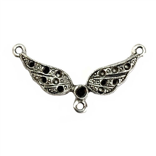 old silver pewter, Steampunk wings, connectors, 07619, lead free pewter, B'sue by 1928, 1928 Company, designer jewelry findings, vintage jewelry parts, 1928 Jewelry, plated pewter, filigree, B'sue Boutiques, vintage French findings, US made