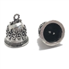 Victorian Round bell drop, vintage pewter castings, B'sue by 1928, bell drop, 14x12mm mount, victorian, lead free pewter, old silver pewter, US made, vintage supplies, 1928 Jewelry, B'sue Boutiques, vintage style, Victorian style, 09664