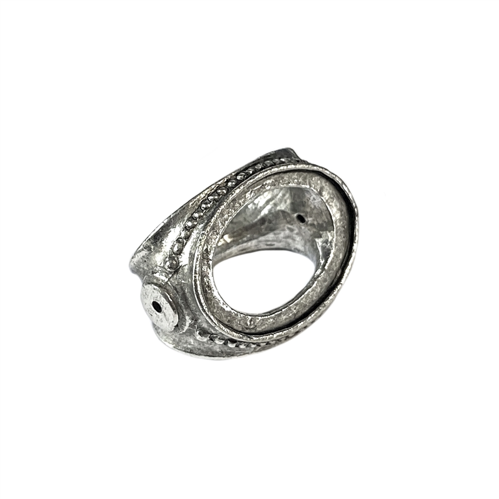 old silver, cameo, spinning bead, 18x13mm, triple cameo bead, B'sue by 1928, silver bead, special silver bead, lead free pewter, antique silver plated, 18x13mm stone, vintage jewelry parts, pewter jewelry parts, , vintage jewelry making supplies