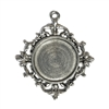 old silver, jewelry pendant, 09741, lead free pewter, B'sue by 1928, silver plated pewter, antique, vintage jewelry parts, pewter jewelry parts, nickel free finish, made in the USA, 1928 Company, designer jewelry, B'sue Boutiques