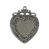 old silver, silver heart pendant, pewter charms, lead free pewter, B'sue by 1928, silver plated pewter, antique, vintage jewelry parts, pewter jewelry parts, nickel free finish, made in the USA, 1928 Company, jewelry, designer jewelry, B'sue Boutiques