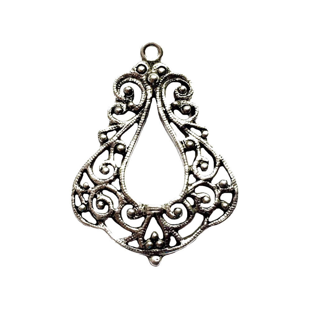 old silver, pendant drop, 09753, lead free pewter, B'sue by 1928, silver plated pewter, antique, vintage jewelry parts, pewter jewelry parts, nickel free finish, made in the USA, 1928 Company, designer jewelry, B'sue Boutiques