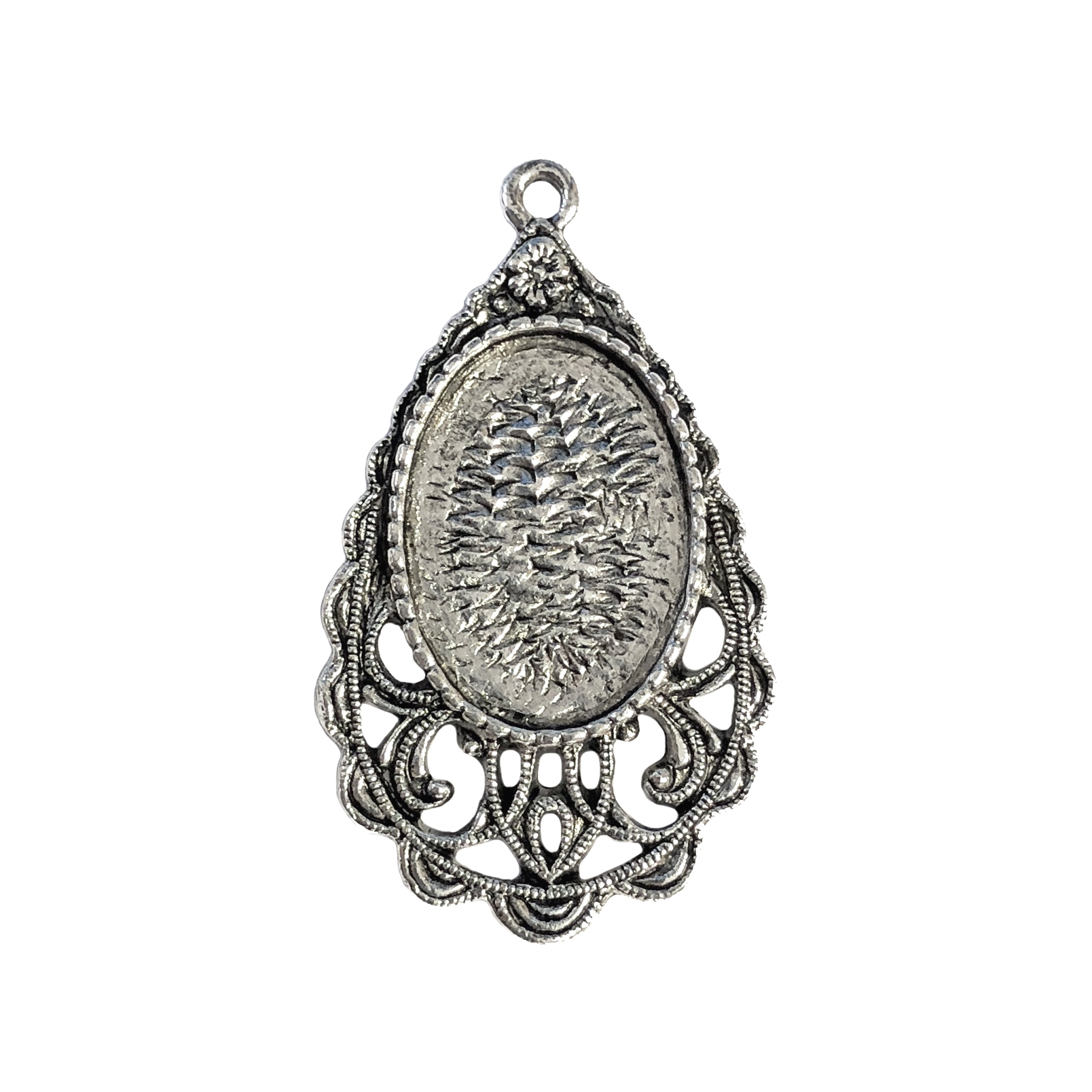 old silver, Victorian pendant, 09754, lead free pewter, B'sue by 1928, silver plated pewter, antique, vintage jewelry parts, pewter jewelry parts, nickel free finish, made in the USA, 1928 Company, designer jewelry, B'sue Boutiques