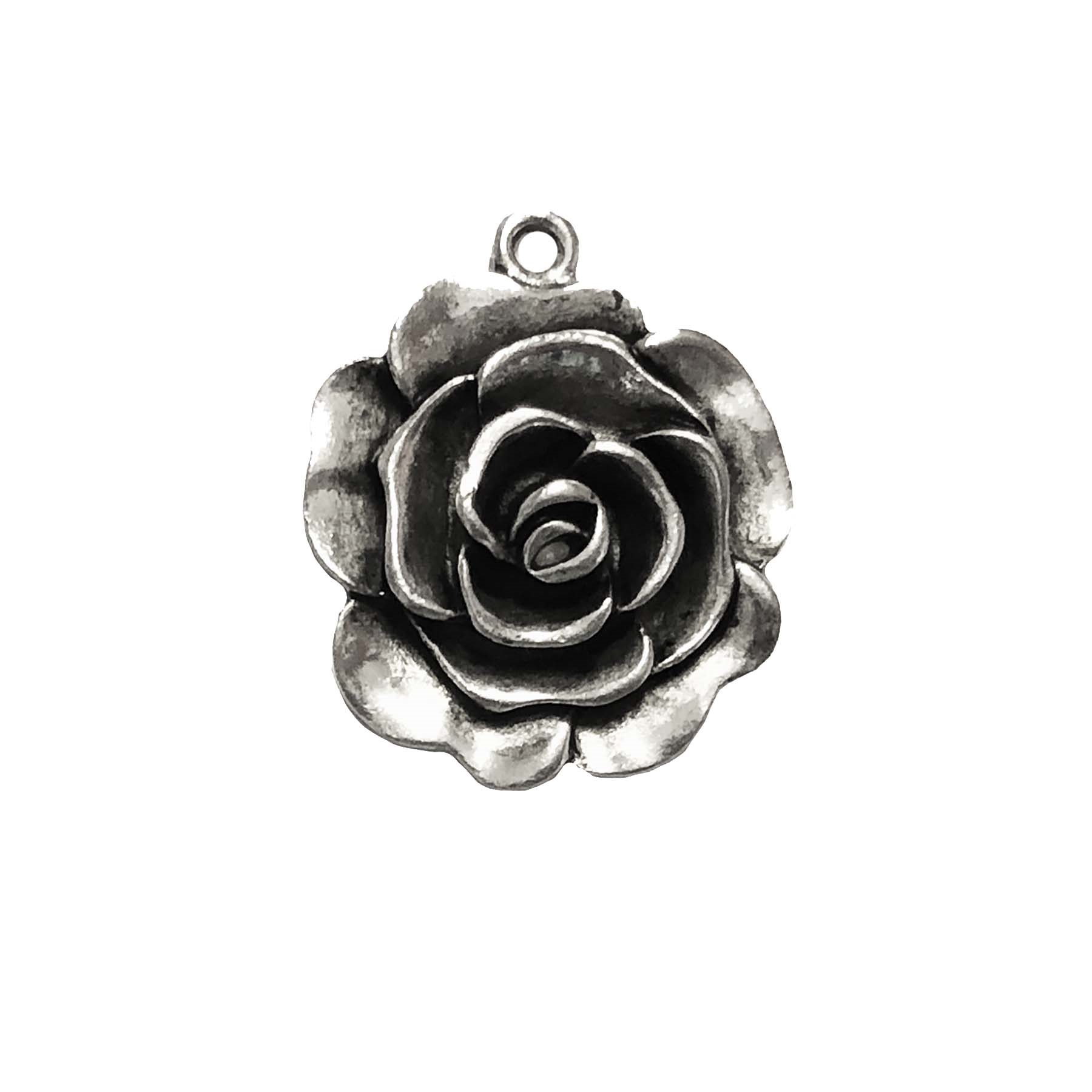 old silver, nickel free,rose,rose charms, lead free, pewter castings, cast pewter jewelry parts, vintage, 1928 Jewelry, B'sue Boutiques, B'sue by 1928, silver charms, vintage charms, vintage jewelry findings,pewter, pewter jewelry findings,made in the USA