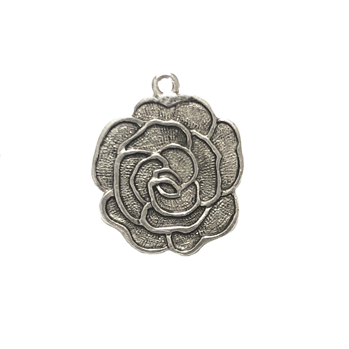 Old silver nickel freeroserose charms lead free pewter castings our aloadofball Images