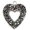 old silver, nickel free, heart charms, lead free, pewter castings, cast pewter jewelry parts, vintage, 1928 Jewelry, B'sue Boutiques, B'sue by 1928, silver charms, vintage charms, vintage jewelry findings, pewter, pewter jewelry findings,made in the USA