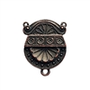 victorian centerpiece pendant, rusted iron pewter, victorian pendant, lead free pewter, B'sue by 1928, copper base, vintage jewelry parts, pewter jewelry parts, nickel free, us made, 1928 Company, designer jewelry, B'sue Boutiques, 34x26mm, 02819