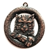 buster kitty pendant, rusted iron pewter, cat pendant, lead free pewter, cat charms, lead free, jewelry findings, vintage jewelry parts, nickel free, B'sue by 1928, vintage jewelry findings, pewter jewelry parts, us made, 1928 Jewelry, pewter, 03023