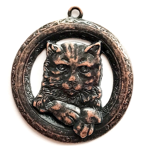 Buster kitty pendant rusted iron pewter cat pendant lead free buster kitty pendant rusted iron pewter cat pendant lead free pewter cat aloadofball Choice Image