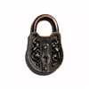 Victorian style padlock, pendant, victorian style lock stamping, lock, rusted iron pewter, rusted iron, 3d charm, vintage style, rusty iron, us made, nickel free, B'sue Boutiques, B'sue by 1928, lead free pewter, vintage supplies, jewelry making, 04895