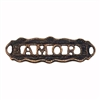 rusted iron, amor connector, bracelet bar, 06865, vintage, B'sue by 1928, lead free pewter castings, cast pewter jewelry findings, made in the USA, 1928 Company, B'sue Boutiques, plated pewter, jewelry supplies