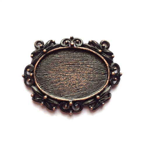 rusted iron, nickel free, double hole pendant, lead free, 0914, pewter castings, cast pewter jewelry parts, vintage, 1928 Jewelry, B'sue Boutiques, B'sue by 1928, Vintage pendants, vintage charms, vintage jewelry findings, pewter, pewter jewelry findings