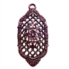 Victorian filigree pendent, lattice filigree, rusted iron, lead free, pewter castings, cast pewter jewelry parts, vintage, 1928 Jewelry, B'sue Boutiques, B'sue by 1928, , vintage jewelry findings, pewter, pewter jewelry findings, us made, 09165