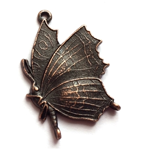 butterfly charm, butterfly, rusted iron, lead free pewter castings, B'sue by 1928, 1928 Company, designer jewelry findings, vintage jewelry parts, 1928 Jewelry, charm, B'sue Boutiques, vintage French findings, us made, pendent, 0917