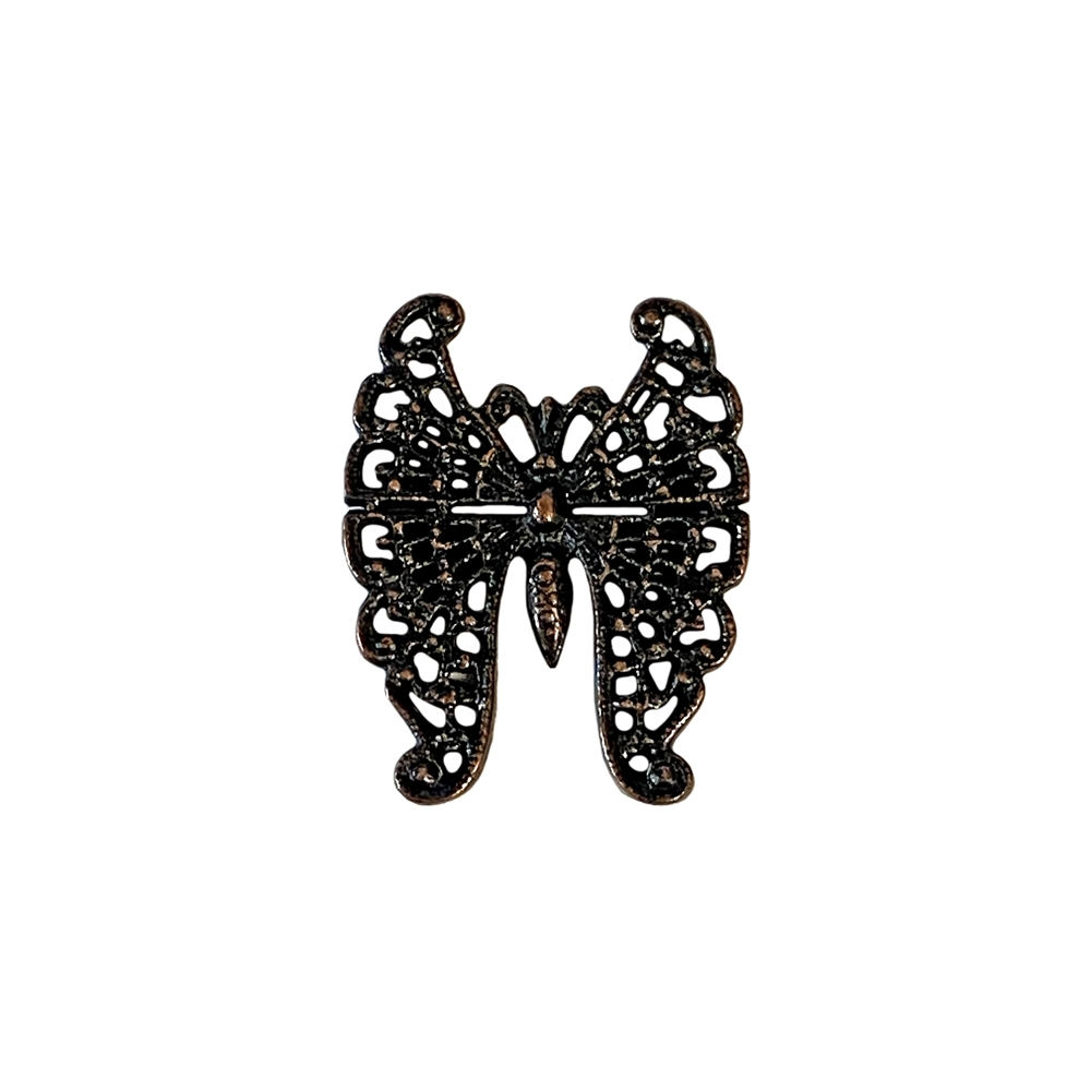 rusted iron pewter, French butterfly, filigree butterfly, 940, lead free pewter, B'sue by 1928, 1928 Company, designer jewelry findings, vintage jewelry parts, 1928 Jewelry, plated pewter, filigree, B'sue Boutiques, vintage French findings,US made