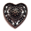 rusted iron pewter, nickel free, filigree hearts, 0942, lead free, pewter castings, cast pewter jewelry parts, vintage, 1928 Jewelry, B'sue Boutiques, B'sue by 1928, vintage charms, vintage jewelry findings, pewter, pewter jewelry findings,made in the USA