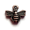 rusted iron pewter, bee charms, 0944, vintage pewter castings, antique copper,  pewter, B'sue by 1920, vintage jewelry supplies, pewter charms, lead free charms, nickel free charms, insect charms, charm bracelets