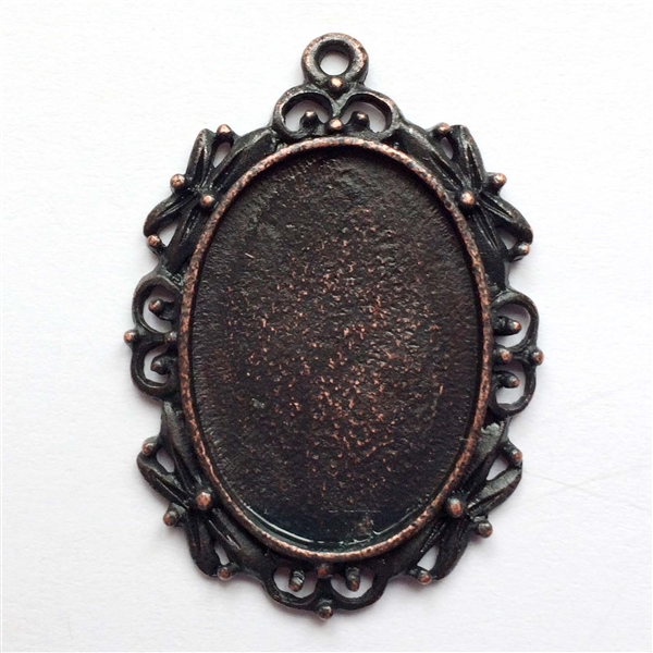 Vintage pewter castings bsue by 1928 victorian pendantscameo larger photo email a friend aloadofball