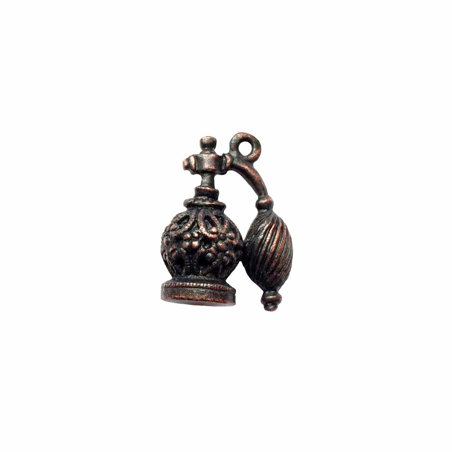 vintage pewter castings, B'sue by 1928, filigree perfume bottle,09785, rusted iron, nickel free finish, lead free pewter, vintage castings, rusty iron, made in the USA, designer jewelry, vintage jewelry supplies, pewter charms,1928 Jewelry, B'sue Boutique