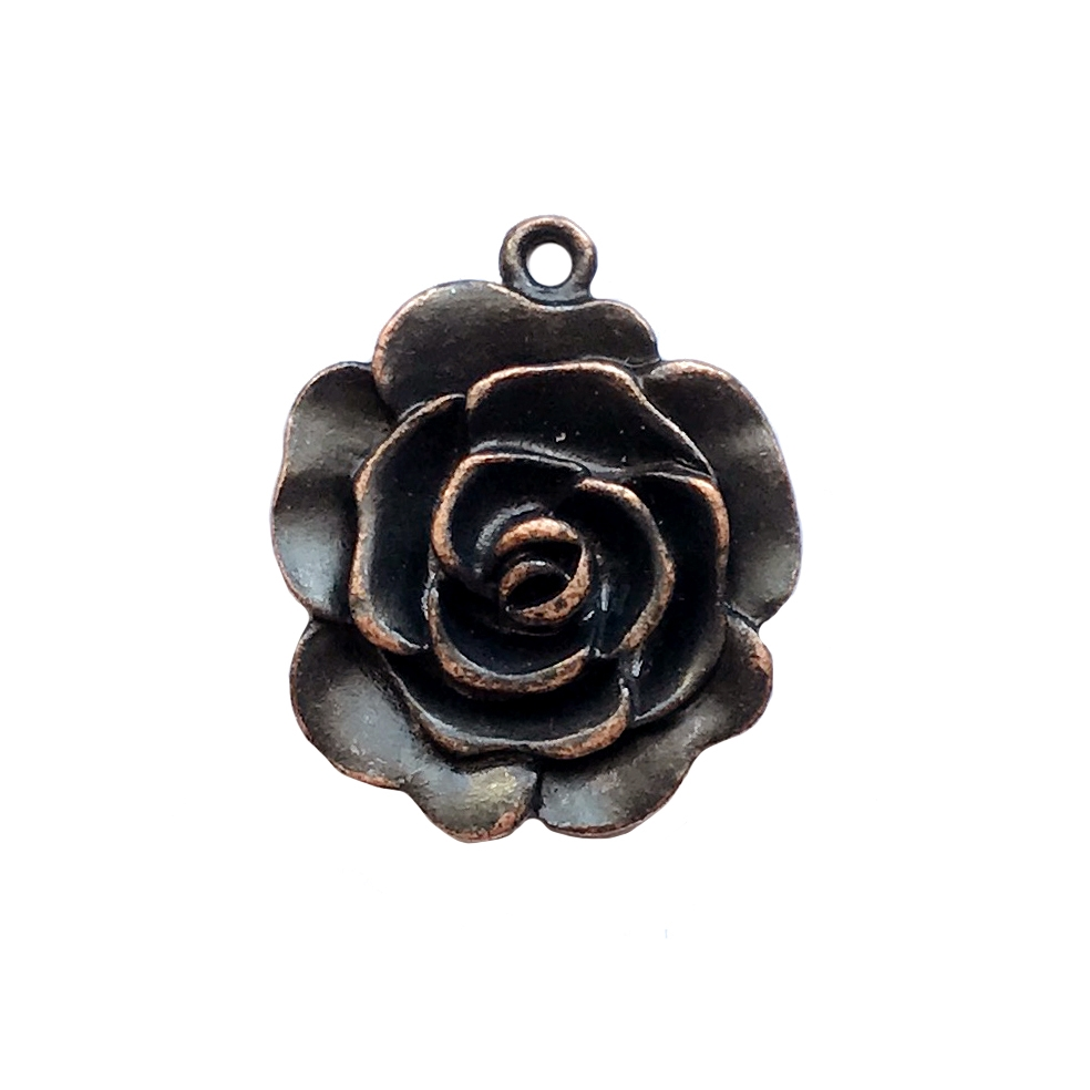 rusted iron, nickel free,rose,rose charms, 09988, lead free, pewter castings, cast pewter jewelry parts,  1928 Jewelry, B'sue Boutiques, B'sue by 1928, vintage charms, vintage jewelry findings,pewter jewelry findings,made in the USA