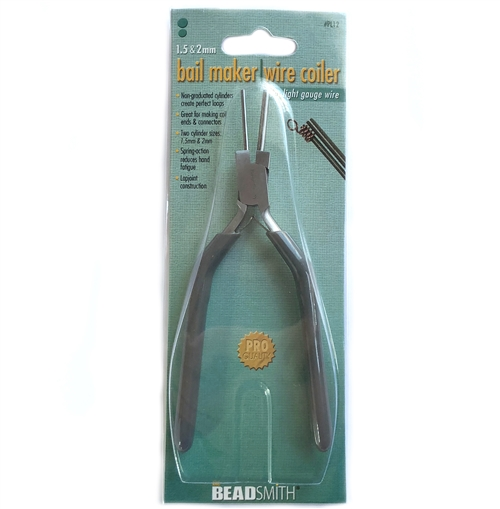 bail making pliers, 1.5&2mm, bending pliers, wire coiler, tools, jewelry making, jewelry making tools, bead smith, pro quality, bail making, bending metal, metal pliers, vintage supplies, plier supplies, B'sue Boutiques, cylinder size, wrapping metal, 07