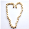 Glass pearls, Czech, pearl chockers, 02020, B'sue Boutiques, beading supplies, vintage jewellery supplies, jewelry making supplies, glass beads, Czech beads, creme pearls