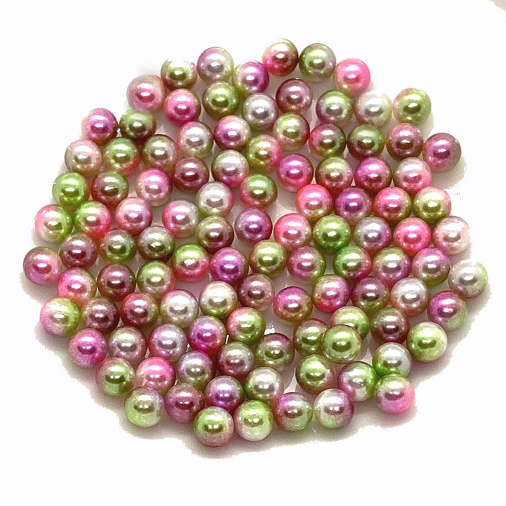 Mermaid Bubbles, No Hole Pearls, pastel pearls, costume pearls, 6mm pearls, mermaid beads, pearly beads, pearlescent, pearlesque, assemblage jewelry, resin filler, B'sue Boutiques, small pearls, 03498