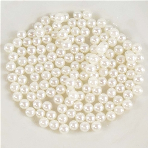 no hole pearls, off white ball pearls, 5mm, 04745, B'sue Boutiques, beading supplies, assemblage jewelry, vintage jewelry supplies, jewelry making supplies, off white pearls