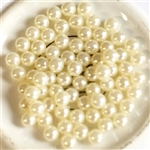 cream pearls, 5mm, no hole pearls, 04790, vintage jewelry supplies, jewelry making supplies, Bsue Boutiques, US made, beading supplies,