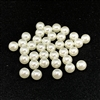 imitation pearls, no hole pearls, white, white pearls, pearl, off white pearls, off white, 6mm, 36 piece, jewelry making, jewelry supplies, B'sue Boutiques, US made, vintage supplies, jewelry findings, pearl supplies, beading supplies, 04799