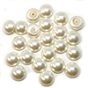 pearl cabochons, imitation cream cabs, 05186, vintage jewelry supplies, jewelry making supplies, 8mm cabs, pearl cabs, flat back cabochons