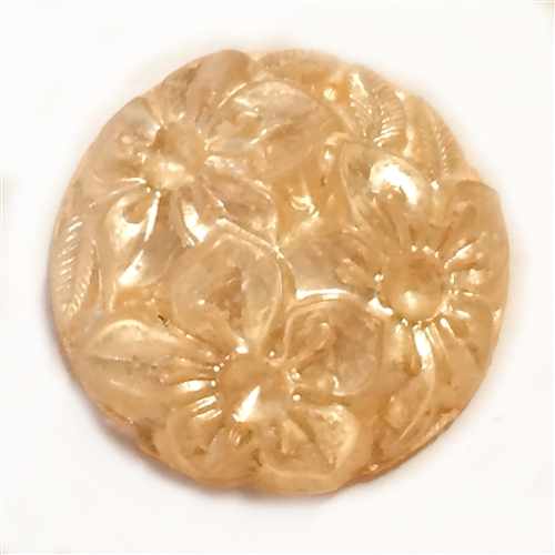 vintage floral cabochon, floral flat back, 03170, soft peach cameo, vintage jewelry supplies, jewelry making supplies, Bsue Boutiques,  flat back cameos, floral cameos