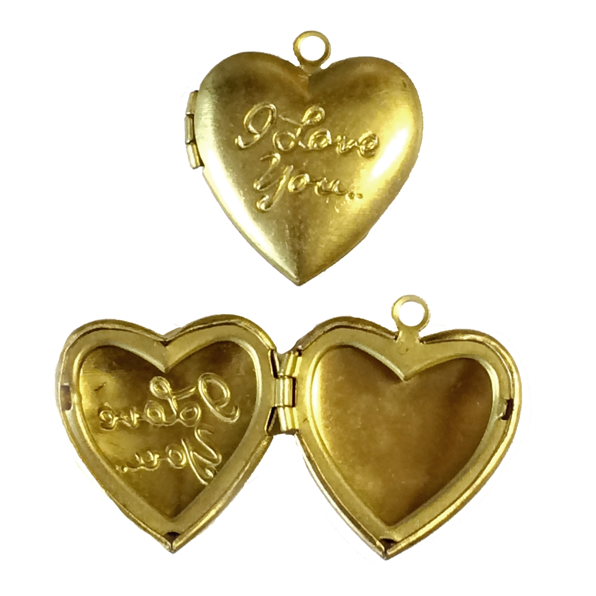 mm antique item brass heart blank for sale setting lockets pendant