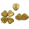 heart lockets, vintage lockets, patina, 20mm