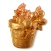 brass flower pot, brass fruit, jewelry supplies